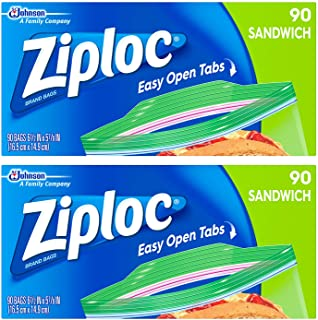 Ziploc Sandwich Bags, 90 ct - 2 Pack