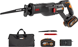 Sponsored Ad – WORX 20V Cordless Reciprocating Saw WX516, PowerShare, Brushless,Quick Blade Change, Variable Cutting Spee...
