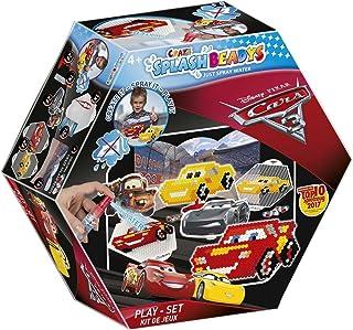 CRAZE fusibles Pixar Cars Splash BEADYS Jeu de Voitures 3 pour confectionner des Perles d'eau Douce comme Jouet 59389, Mul...
