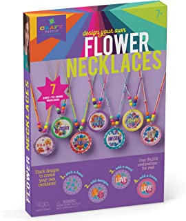 Craft-tastic – Design Your Own Flower Necklaces – Craft Kit Makes 7 Inspirational, Stackable, & Interchangeable Necklaces