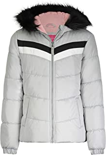 LONDON FOG Girls' Quilted Puffer with Fleece