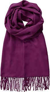 Made By Johnny MBJ Shawls and Wraps Elegant Cashmere Scarfs for Women Stylish Warm Blanket Solid Winter Scarves