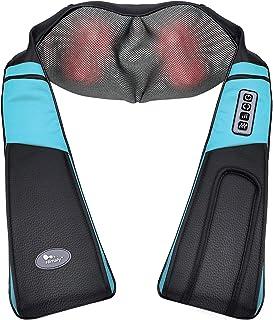 Himaly Masajeador de Cuello Espalda y Hombros 3D Shiatsu Masajeador Cervical con 3D Rotación y Función con Calor para Relajación de Fatiga en Casa Oficina o Coche Regalo para Amigos y Familia