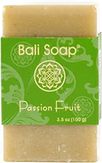 Bali Soap - Passion Fruit Natural Soap Bar, Face or Body Soap Best for All Skin Types, For Women, Men & Teens, Pack of 3, ...