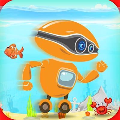 robot water surfer - underwater run