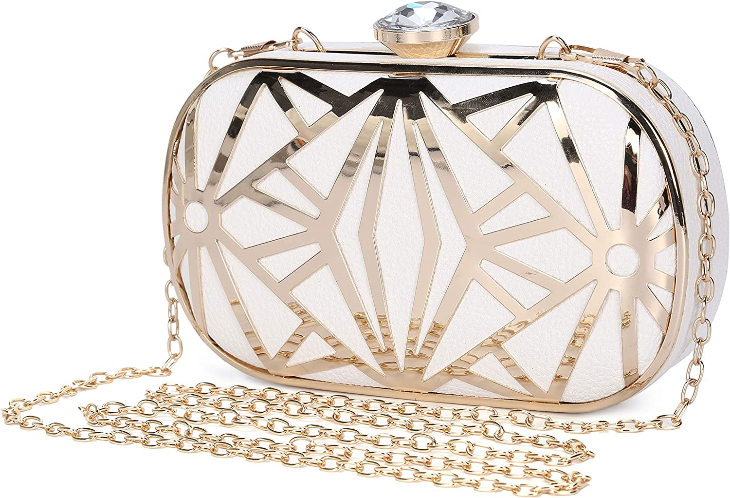 Clocolor Women Attention brand Evening Bags Exquisite Handbag Leather Metal Max 50% OFF Holl