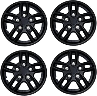 Tuningpros WC3-15-515-B - Pack of 4 Hubcaps - 15-Inches Style 515 Snap-On (Pop-On) Type Matte Black Wheel Covers Hub-caps
