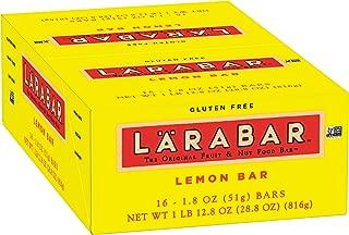 Larabar Gluten Free Bar, Lemon Bar, 1.8 oz Bars (16 Count), Whole Food Gluten Free Bars, Dairy Free Snacks