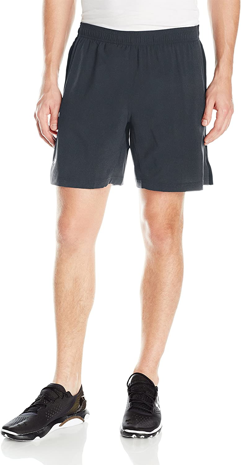 Under Armour Men's Launch 2-In-1 Shorts, Anthracite (016)/Reflective, Large