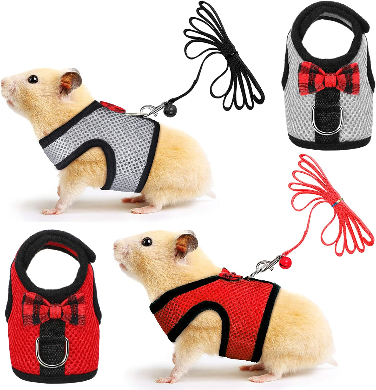 SATINIOR 2 Pieces Guinea Pig Harness Small Under blast sales and Soft Leash P Mesh Outstanding