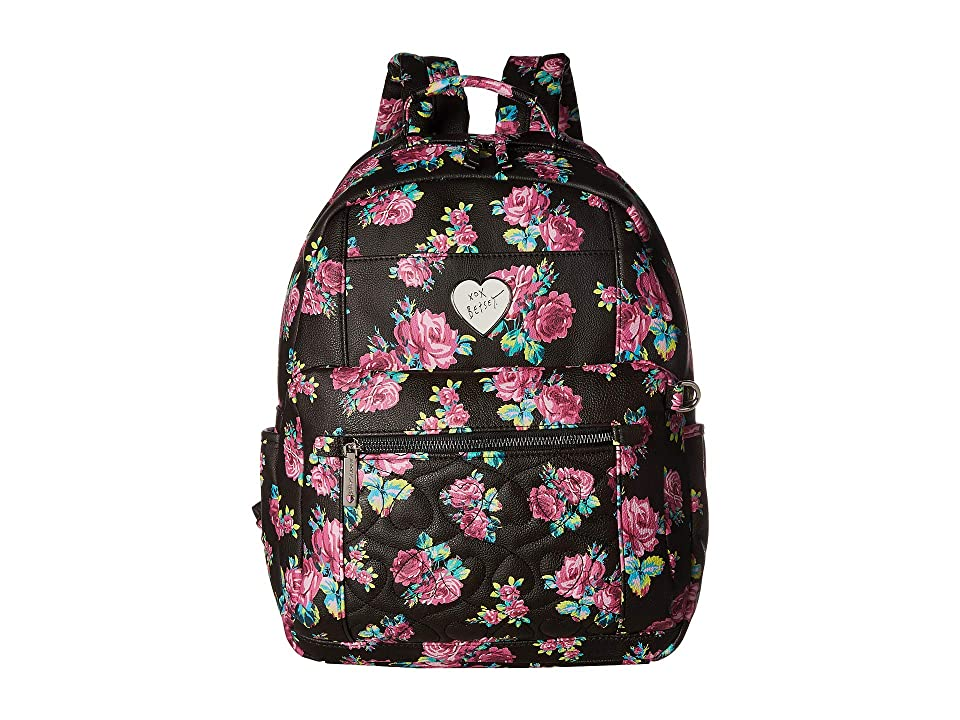 Betsey Johnson Backpack with Pouch (Floral) Backpack Bags