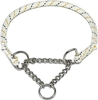 ドッグ・ギア ザイルハーフチョーク首輪 ロープ径10mm ホワイト しつけサイズ 「しつけとおしゃれを両立できる首輪です」