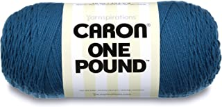 Caron  One Pound Solids Yarn - (4) Medium Gauge 100% Acrylic - 16 oz -  Ocean- For Crochet, Knitting & Crafting