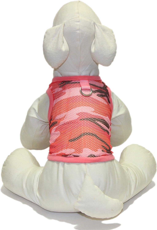 Gooby Mesh Camo Cutoff, Large, Pink