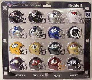 New Riddell NFC 2018 Pocket Pro Speed Mini Helmet Conference Set
