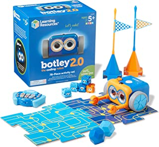 Learning Resources Botley the Coding Robot 2.0 Activity Set, Coding Robot for Kids, STEM Toy, Early Programming, Coding Ga...