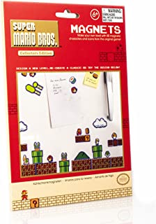 Paladone Super Mario Bros. Fridge Magnets - Features 80 Magnetic Characters and Icons