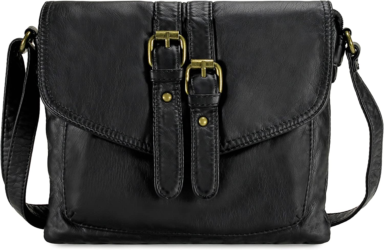 Scarleton Trendy Belt Strap Flap Crossbody Bag H1994
