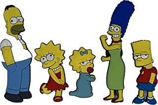 xunlei Refrigerador Pegatinas 5 Unids Refrigerador Pegatina Decoración Nevera Imán Homer Simpson Dibujos Animados Creativo Educación Temprana