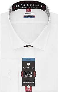 Van Heusen Men's TALL FIT Dress Shirts Flex Collar Solid...