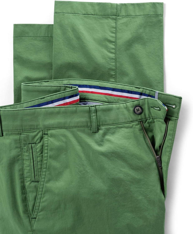 Walbusch Herren Globetrotter Chino einfarbig Grün