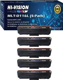 (Set of 5, Black) HI-VISION HI-YIELDS Compatible 116L MLT-D116L Toner Cartridge Replacement, for Samsung Xpress M2885FW, M2835DW, M2825FD, M2875FW, M2875FD, M2625D
