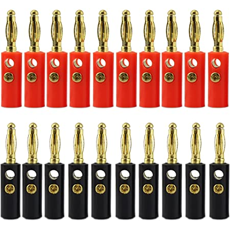 Akozon Bananenstecker P3008 10 StÜcke 4mm Bananenstecker Jack Für Lautsprecher Verstärker Test Sonden Stecker Gewerbe Industrie Wissenschaft