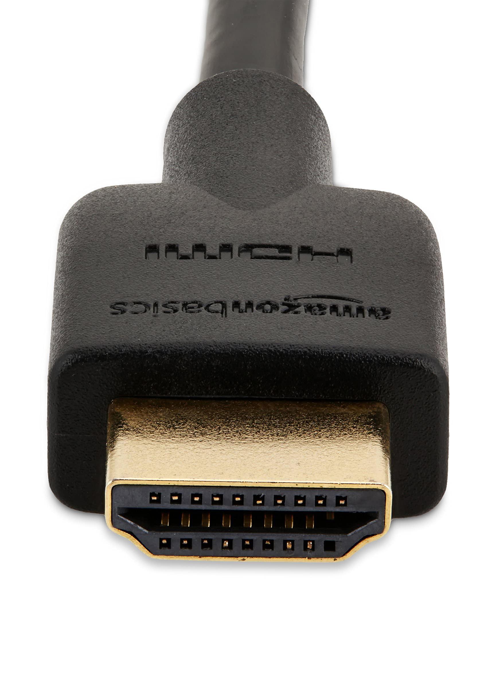 Amazon Basics High-Speed HDMI Cable (18 Gbps, 4K/60Hz) - 6 Feet, Black