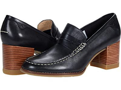 Sperry Seaport Penny Heel Leather
