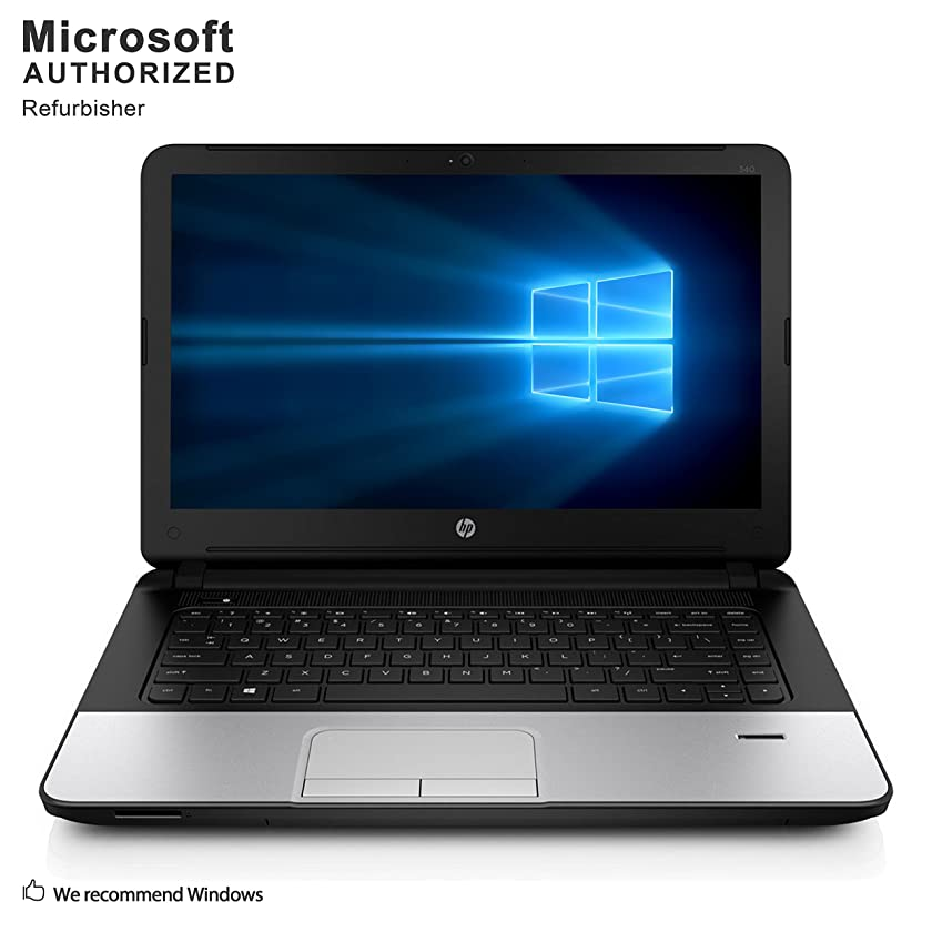 HP 340 G1 14'' Business Laptop Computer(Intel Core i3-4010U 1.7G, 8GB DDR3, 320G, VGA, HDMI, USB 3.0, WiFi,Windows 10 Pro 64)(Certified Refurbished)-Multi-Language Support English/Spanish