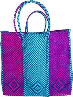 OTOMI MEXICO - Borsa da spiaggia -Borsa tote in materiale riciclato - shopper realizzata a mano - Borsa da spiaggia - beac...
