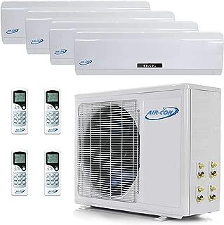 4 Zone Mini Split - 9000 + 12000 + 12000 + 12000 - Ductless Air Conditioner - Pre-Charged Quad Zone Mini Split - Premium Quality - USA Parts & Support