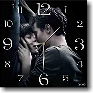ART TIME PRODUCTION Fifty Shades of Grey 11'' Handmade Wall Clock - Get Unique décor for Home or Office – Best Gift Ideas for Kids, Friends, Parents and Your Soul Mates