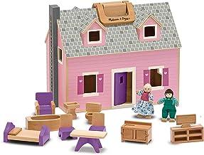 Melissa & Doug Fold and Go Wooden Dollhouse