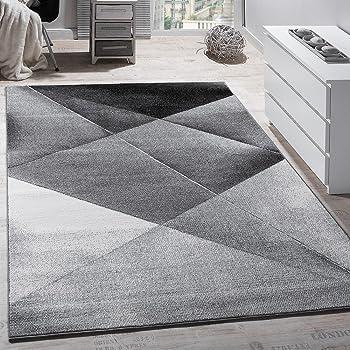 Dimension:60x110 cm Tapis Unicolore Tapis Design /à Contours Fait Main Gris