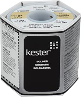 Kester 24-6337-8800 50 Activated Rosin Cored Wire Solder Roll, 245 No-Clean, 63/37 Alloy, 0.031