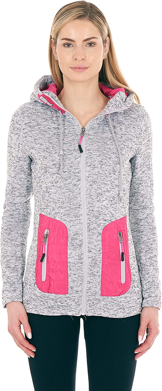 FGR Junior Long Sleeve Full Zip Fashion Hoodies with Lining