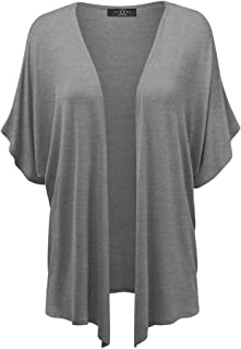 MBJ Womens Short Sleeve Dolman Cardigan 5XL Aqua
