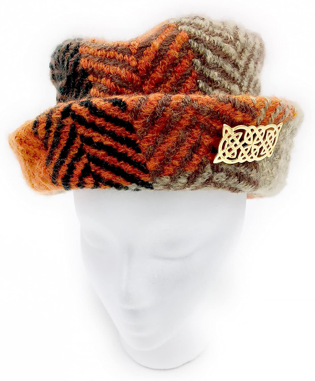 Branigan Country Hat and Irish Celtic Pin  Multi Rust