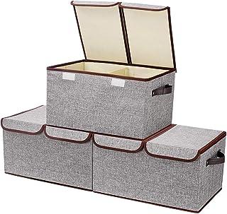 Senbowe 衣類収納ケース 収納ボックス ふた付き 折りたたみ 収納ケース 超大容量 幅45×奥行30×高さ25cm おもちゃ収納 衣類用 クローゼット整理用 (3個セット)