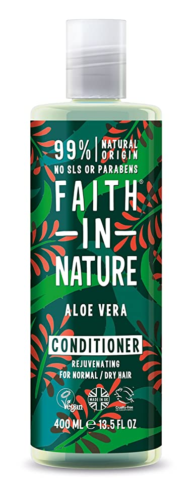革新流用する反動Faith in Nature Organic Aloe Vera Conditioner 400ml