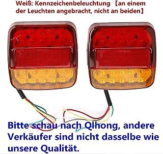 HQAP 12V LED R/ücklicht Anh/änger mit E11 PR/ÜFZEICHEN Universal R/ückleuchten Heckleuchten Bremsleuchte Blinker Rot f/ür H/änger Anh/änger LKW Lastwagen KFZ f/ür unter 80 Zoll Bootsanh/änger PKW Trailer