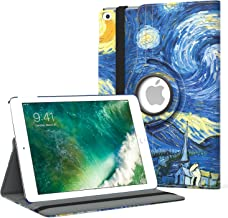 MoKo Case Fit 2018/2017 iPad 9.7 6th/5th Generation - 360 Degree Rotating Cover Case with Auto Wake/Sleep Compatible with Apple iPad 9.7 Inch 2018/2017, Starry Night