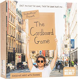 Dude with Sign: The Cardboard Game - Adult Party Game of Ridiculous Dares - by What Do You Meme?