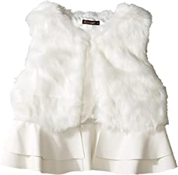 Loren Fur Ruffle Vest (Big Kids)