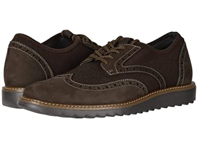 Dockers Hawking Knit/Leather Smart Series Dress Casual Wingtip Oxford with NeverWet (Dark Brown Tweed Knit/Nubuck) Men