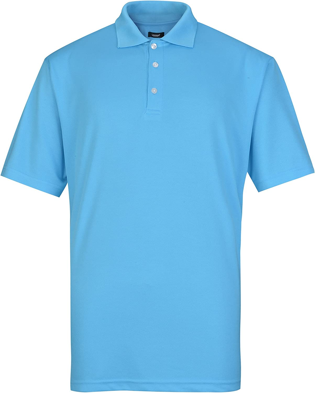 Lesmart Men's Golf Polo Shirt Performance Wicking Dry 日本正規代理店品 Fit お求めやすく価格改定 Short