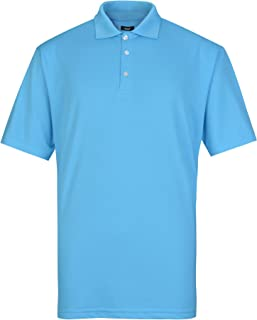 Lesmart Men's Golf Polo Shirt Performance Wicking Dry Fit Short Sleeve T-Shirt Tops