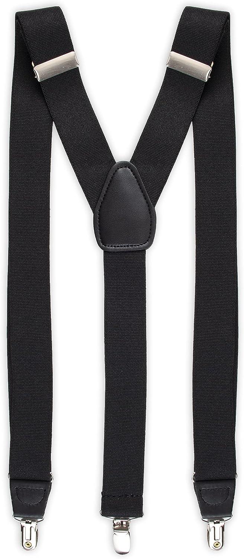 Haggar Men's Y-Back Adjustable Clip Suspender