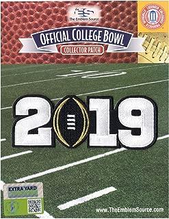 2019 College National Championship Game Jersey Patch Black Alabama Clemson